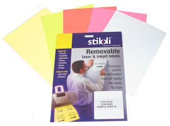 Stikki Laser & Inkjet Labels